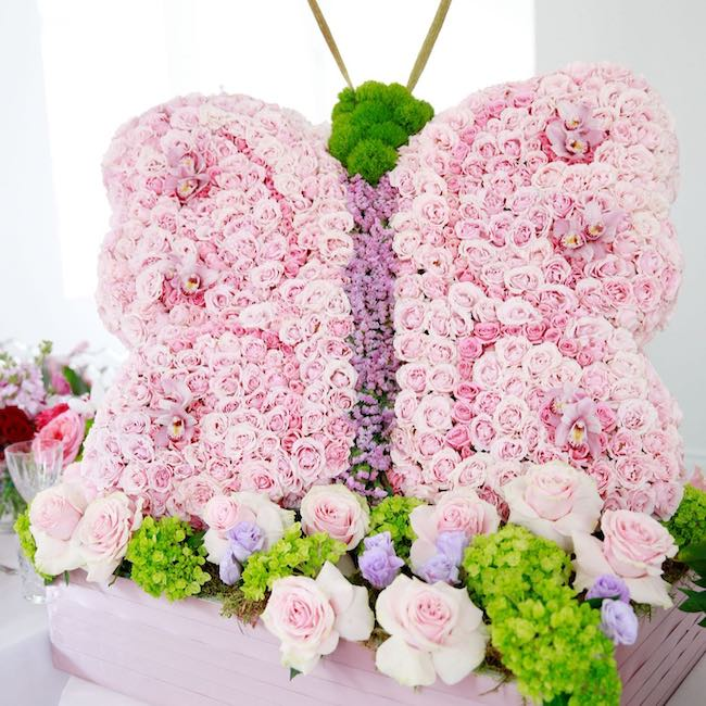 butterfly floral arrangement