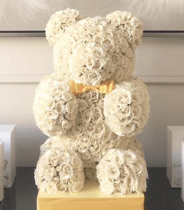 teddy bear flowers aura design