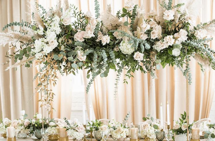 table d'honneur fleurs