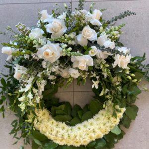 round wreath flowers